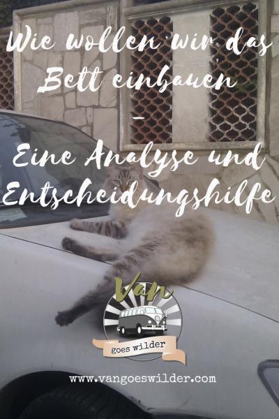 Zombie Cat - Artikel zum Bett-Einbau - Van goes wilder